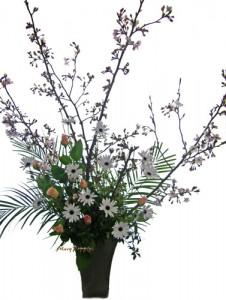 桜とデモールフォセカのアレンジ