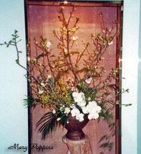 コチョウランと桜のアレンジ