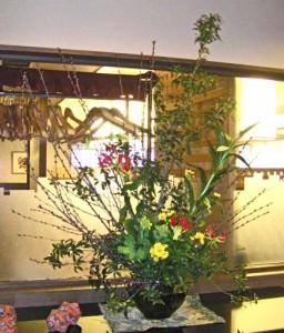 ロトウ桜と菜の花のアレンジ