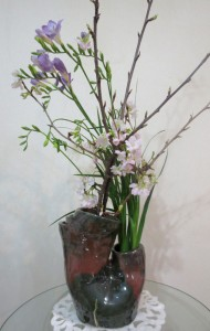 ケイオウ桜とフリージア