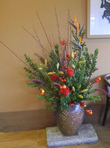 ストレリチアとハナナスのアレンジ