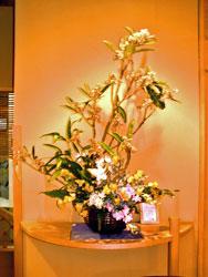 ビワの花のアレンジ