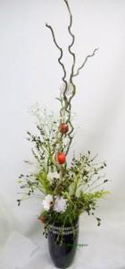 ビロウヤシの実と姫リンゴ