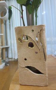 手作り素焼き花器
